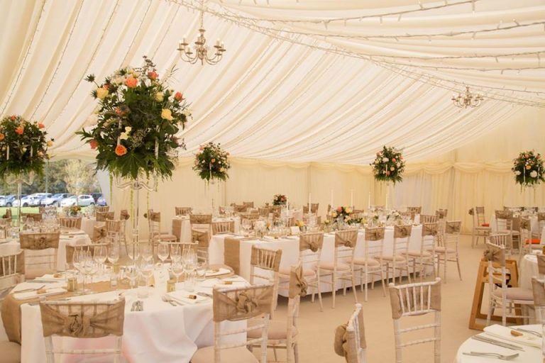 Seating arrangement in the marquee